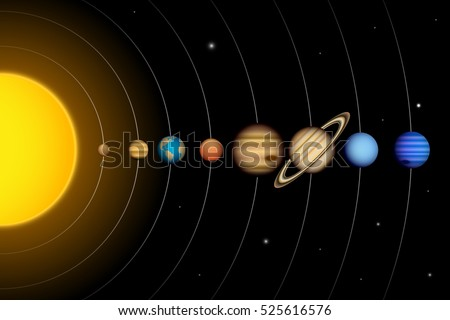 vector solar system planets diagram stock vector (royalty free Solar System Chart vector solar system with planets, diagram