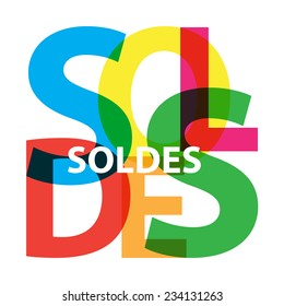 Vector Soldes. Broken text