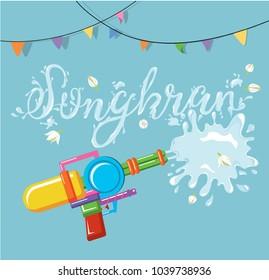 Vector for Songkran festival, Thailand New Year