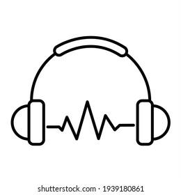 Vector Sound Beats Outline Icon Design