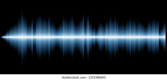 vector sound diagram, abstract music background