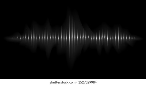 Vector sound wave. Abstract music pulse background. Audio track wave graph of frequency and spectrum.