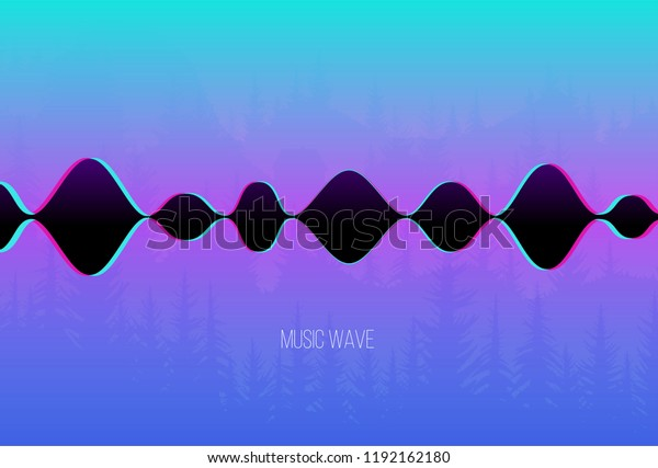 Vector Sound Wave Chillout Music On Stock Vector (Royalty