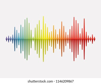 Vector Sound Wave. Colorful sound waves for party, DJ, pub, clubs, discos. Audio equalizer technology. Vector illustration