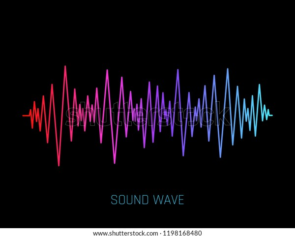 Vector Sound Wave Colorful Sound Waves Stock Vector (Royalty