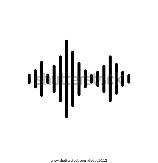 Vector sound wave icon