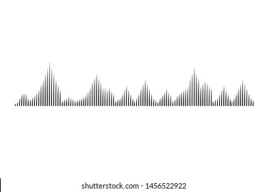 Vector sound wave.Audio equalizer technology, pulse musical.  Black digital radio musical wave. Vector illustration eps10