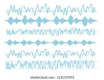 Vector sound waves. Equalizer technology. Radio wave vector