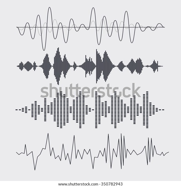 Vector Sound Waves Set Music Vector Stock Vector (Royalty