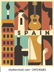 Vector Spain background