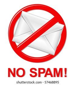 vector spam warning sign