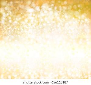 Vector sparkle, golden background.