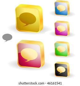 Vector speech bubble. Button set.