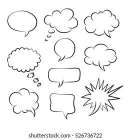 Vector speech bubble icons. Layout element for web, brochure, presentation or infographics.