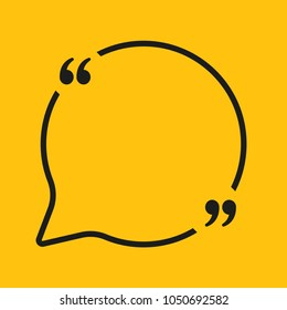 Vector Speech Bubble Quote Blank Template. Empty Quote Template. Business Quote Card Template, Information, Text. Quote Form. Bracket. Sending, Direct Speech.