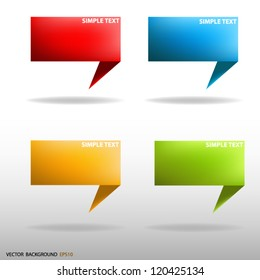 Vector Speech sign banner background communication for Vector design