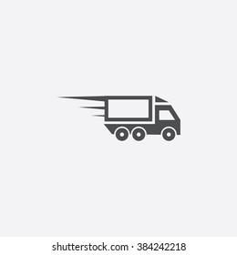 Vector speed truck Icon