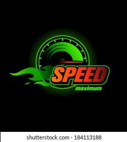 Vector speedometer max speed