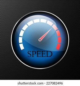 Vector speedometer web icon. Eps 10.