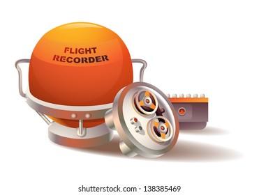 Vector spherical-shaped flight data recorder
