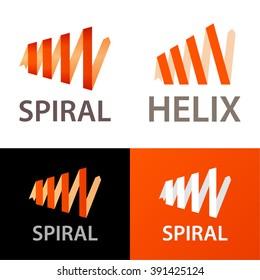 Vector spiral logo template.