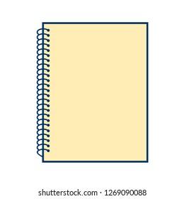 Vector Spiral Notebook Icon