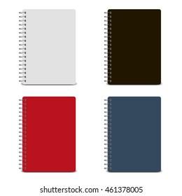 Vector spiral notepad, notebook