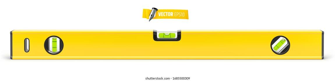 Vector spirit level on white background