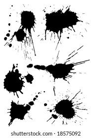 vector splashes