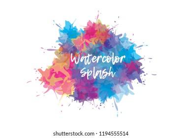 Vector splashes background.Colorful splashes banner.