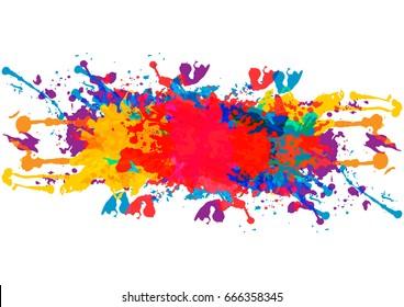 vector splatter color background design. illustration vector design