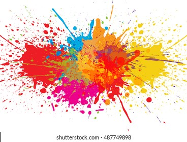 Vector splatter Color background. illustration vector design