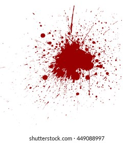 Vector splatter red color background. vector design