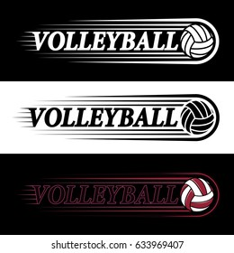 vector sport logo featuring a volleyball ball made in different colors