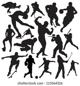 vector sport silhouette