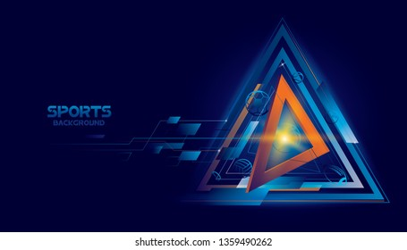 Vector sports with futuristic technology background design.