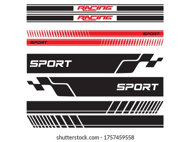 Vector sports stripes for the car
