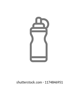 Vector sports water bottle line icon. Symbol and sign illustration design. Isolated on white background