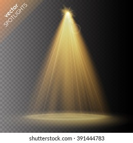 Vector spotlight. Light effect