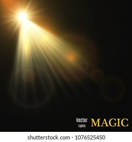 Vector spotlight. Light effect.Vector illustration