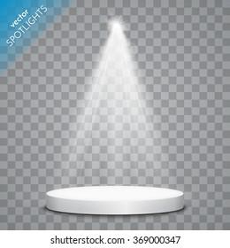Vector spotlight. Scene. Light effects