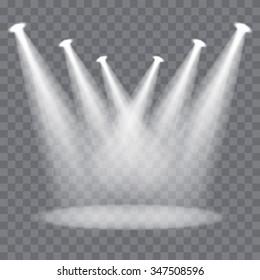 Vector spotlights scene
