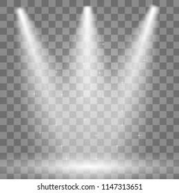 Vector Spotlights. Scene. Light Effects. Vector illustration EPS10