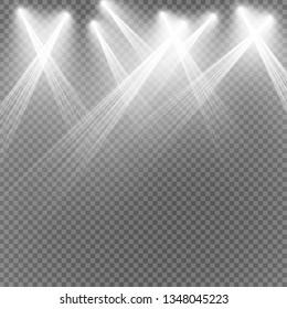 Vector Spotlights. Scene. Light Effects