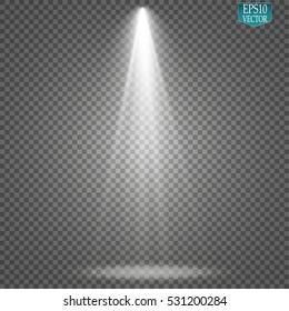 Vector Spotlights. Scene. Light Effects.