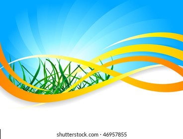 Vector spring background; clip-art