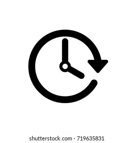 Vector spring forward icon. Change time. Adjust time. set time.