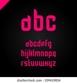 Vector square alphabet simple font and letter set