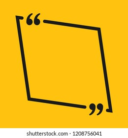 Vector Square Speech Bubble Quote Blank Template. Empty Quote Template. Business Card Template, Information, Text. Bracket. Sending, Direct Speech. Quotes. Speech Qoute Background.