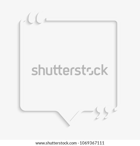 Vector Square Speech Bubble Quote Blank Stock Vector Royalty Free